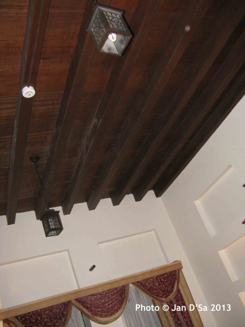 The wooden ceiling of my room!