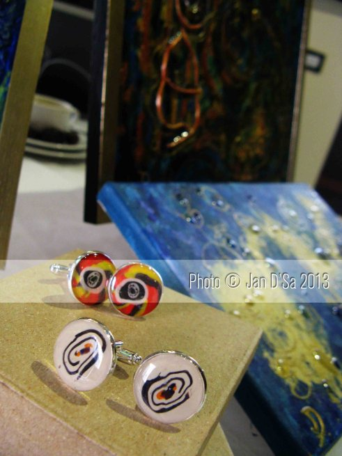 The cufflinks - a result of creating intuitive art!