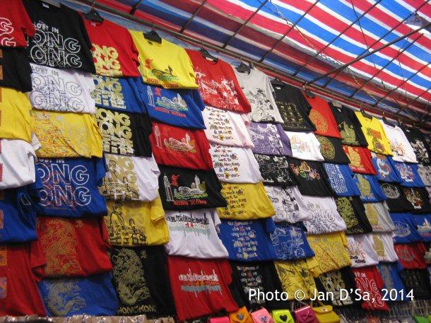 Hong Kong imprinted T Shirts.