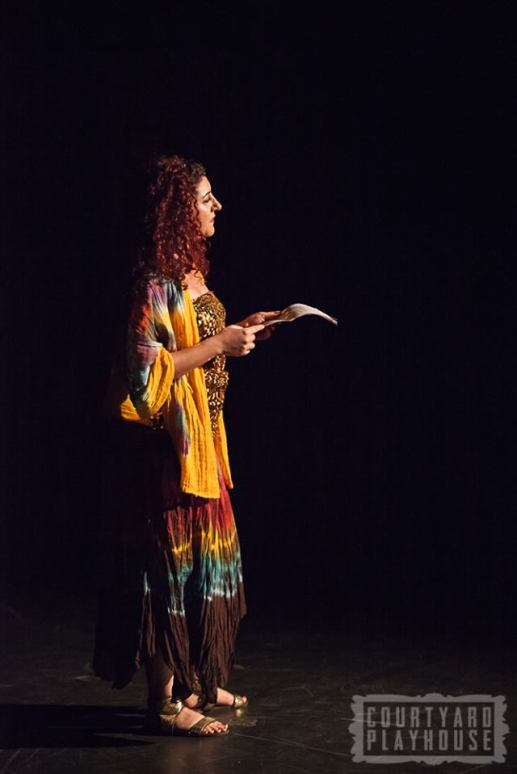 Poetry on Curls and Syria by Hind Shoufani. Photo © Tiffany Schultz & The Courtyard Playhouse