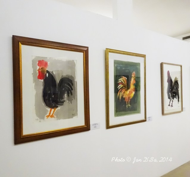 Ismail Fatah Al Turk is the Iraqi artist behind the Rooster series of acrylic work on paper.