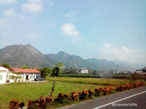 There are farms everywhere in Meinong. The mountains are hidden in mist even on a humid day.