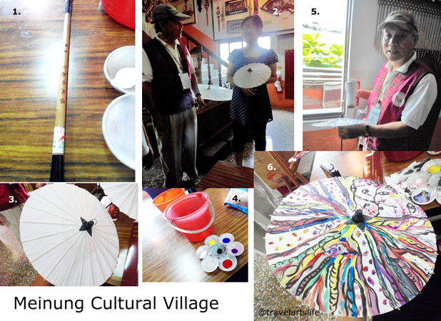 DIY paint your own umbrella at Hakka Cultural Village