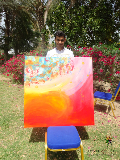 The painting with Nazer early this year at 20/20/20 project.