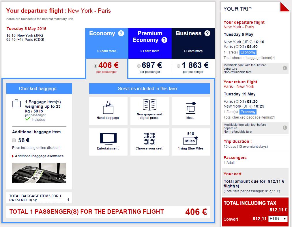 AirFrance Euro