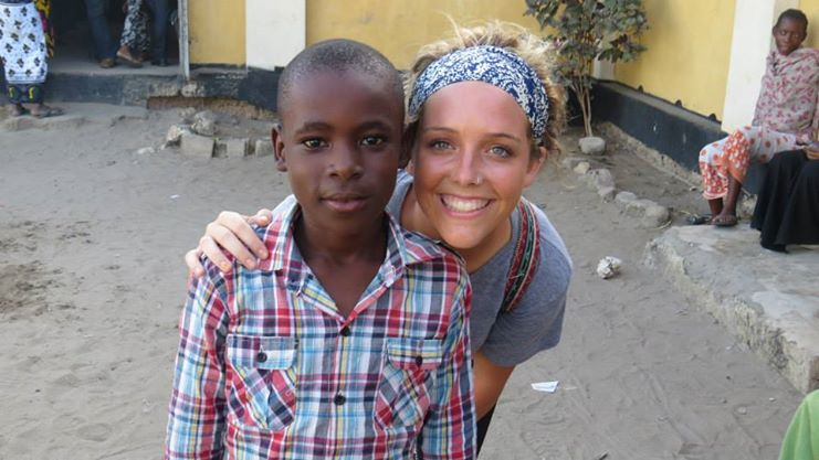 Morgan Longland working with United Planet in Tanzania.