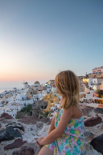 Excursión de un día a Santorini desde Naxos: La vista desde el punto de puesta de sol en Oia