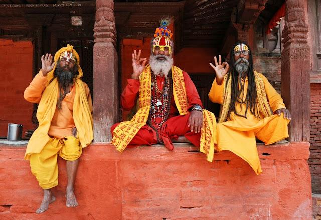 Sadhu în Kathmandu