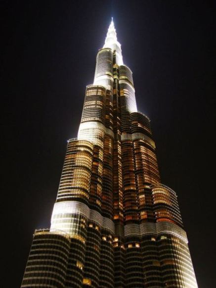 Burk Khalifa at night