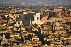 Roma văzută la asfinţit din cupola San Pietro