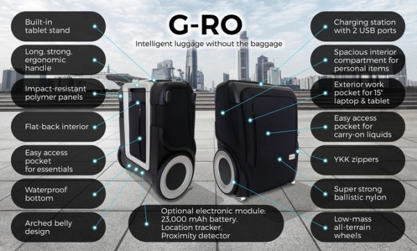G-RO Revolutionary Carry On Luggage