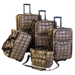 American Flyer Luggage Argyle Regular 5 Piece Set