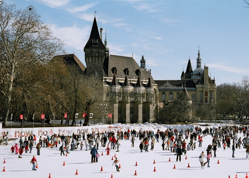Budapest Park Ice Skating Rink - Christmas holidays in Europe