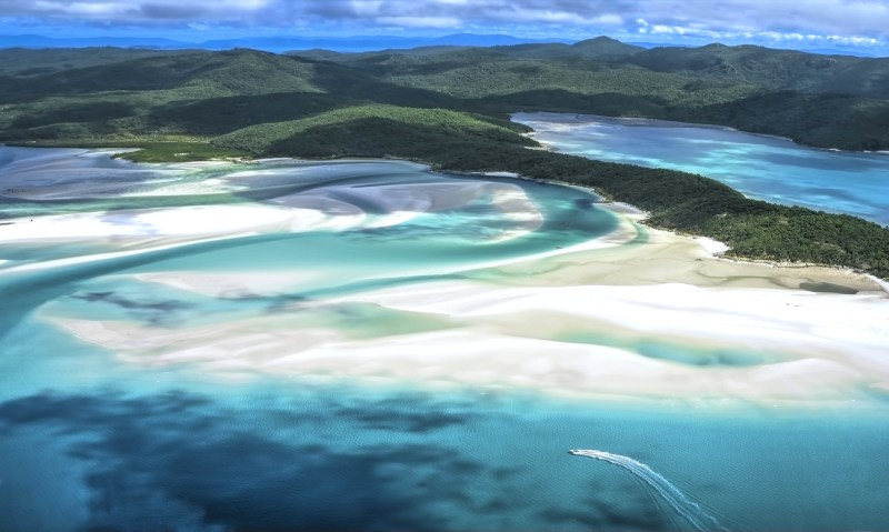 Whitehaven Beach at Whitsunday Island Queensland