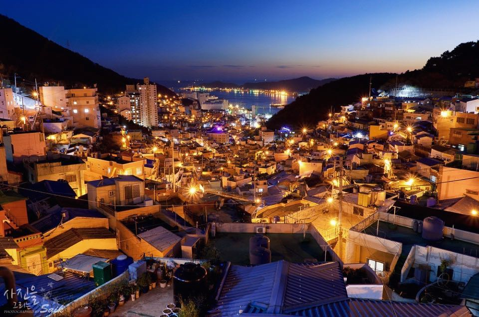 Night view of Gamcheon Culture Village