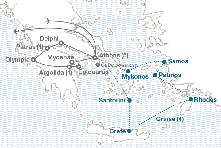 12-day tour of Greece