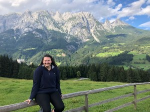 "Emma and friends went to Werfen, Austria to visit the ice caves and the Sound of Music Trail. This picture was taken at the end of the trail which is where the ""Do Re Mi"" scene was filmed in the movie!"