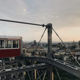 Haley here: During our first night in Vienna, we all went to the amusement park. Even though I am not a rides person, I managed to get on my very first Ferris wheel and it was beautiful!