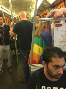 pride flag train ride