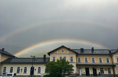 ranbows over train station