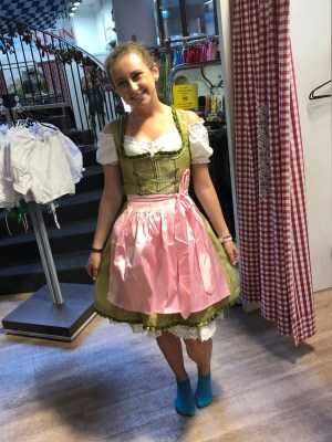 Grace in dirndl