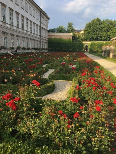 A quick shot of one of Kelley's favorite sections of Mirabell gardens. During our final days in Salzburg, Kelley spent a lot of her time wandering through the city to take in as much as she could before leaving. Oddly enough, she would almost always wind up back here at Mirabell to stop and smell the roses.