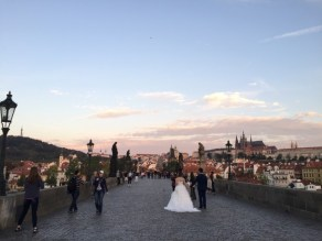 Tourists flock to the Charles Bridge. It's an important part of Czech culture.