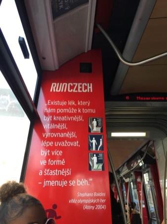 RunCzech ad on the tram
