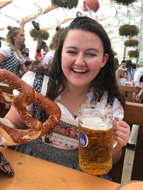 The pretzels were massive!