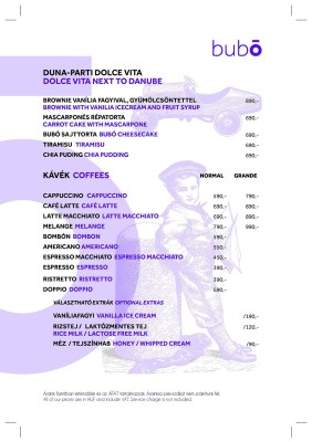 bubo menu