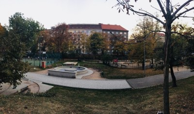 courts and playground