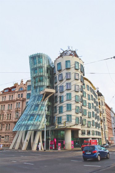 "The infamous ""Dancing House"" in Prague."