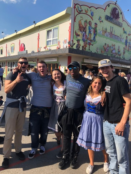 All smiles and laughs at Oktoberfest!