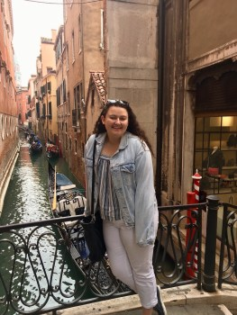 Denim jacket goes to Venice on fall break