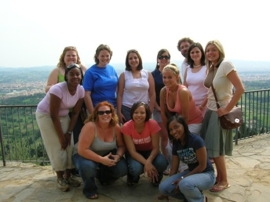 Part of our group who made a day trip the Fiesole, Italy.