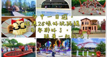 2021台中旅遊景點懶人包》連休假這樣玩!台中一日遊景點行程規劃超過33條路線全攻略!