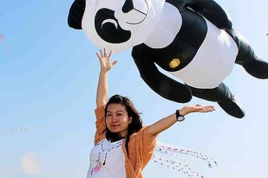 ▌遊記▌彰化溪湖糖廠,熱氣球升空!超注目!七彩繽紛造型彷彿熱氣球般大風箏在台灣也看的到!