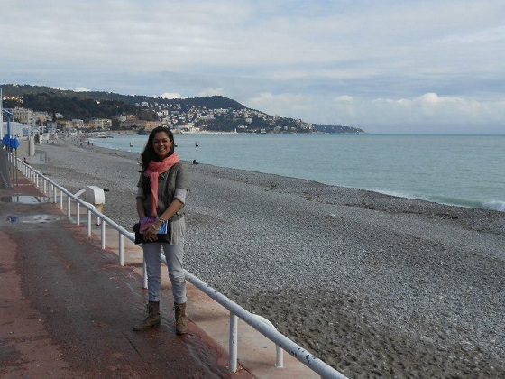 Evening stroll in Nice, South of France