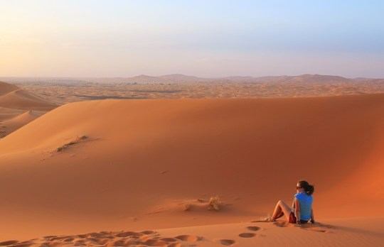 Lauren in the Sahara Desert