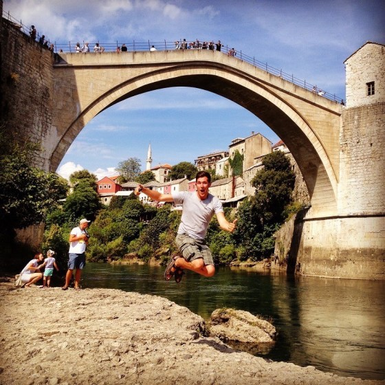 Jumping in Mostar