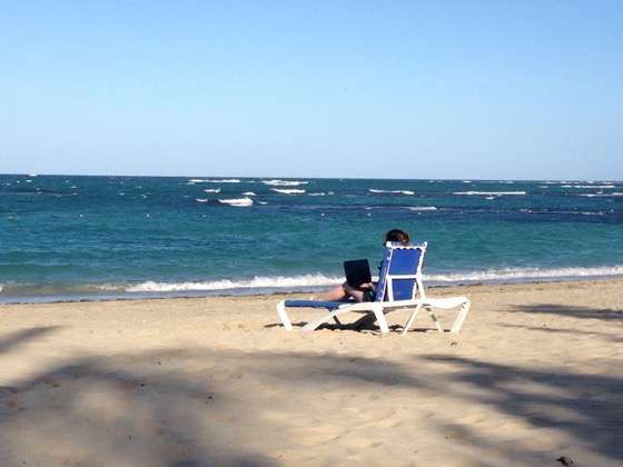 Working online in the Dominican Republic on Wheres Sharon by Sharon Gourlay