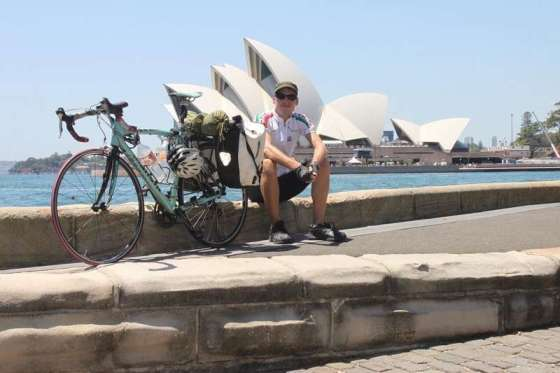 Very happy to have arrived in Sydney by Thomas Andersen of Cycling The Globe