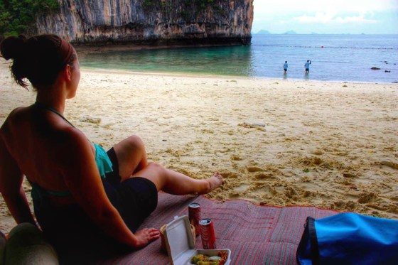 Hong Island off the coast of Krabi, Thailand with Evanne Allen of Poplar Travels
