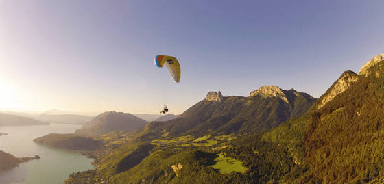 Paragliding in Annecy, France with Aileen Adalid of I Am Aileen