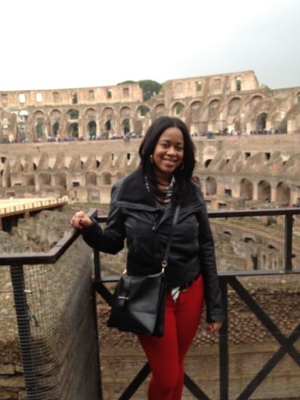 Ashlee Tuck of Will Drink For Travel enjoying the ancient tourist attractions