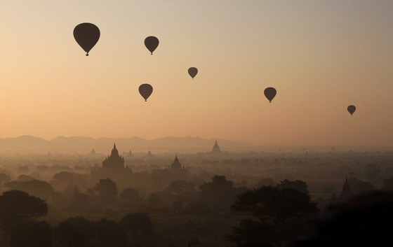 I hate waking up in the morning but not if I have a view like this Myanmar Bagan sunrise
