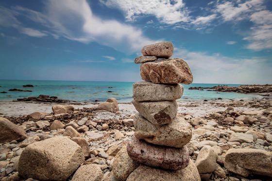Rocks on a beach in beautiful Sardinia Oasi Biderosa beach by Clelia Mattana or Kle from Keep Calm and Travel