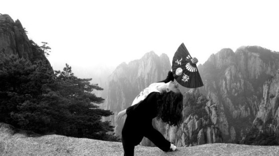 The Kung Fu Princess training in Huangshan, China