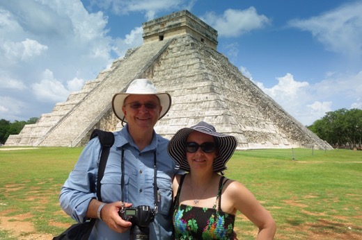 Jett & Kathryn of The Nomadic Tribes at Chichen Itza, Mexico