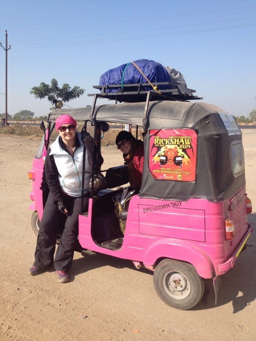 Rickshaw Run, India with Kristine Wanders